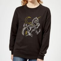 Harry Potter Unicorn Women's Sweatshirt - Black - S - Black