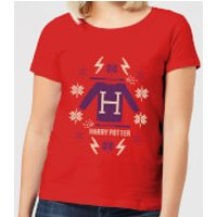 Harry Potter Christmas Sweater Women's T-Shirt - Red - XXL - Red - Sweater Gifts