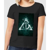 Harry Potter Hallows Painted Women's T-Shirt - Black - S - Black