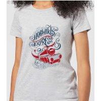 Harry Potter Hogwarts Express Womens T-Shirt - Grey - S - Grey