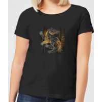 Harry Potter Hufflepuff Geometric Women's T-Shirt - Black - S - Black