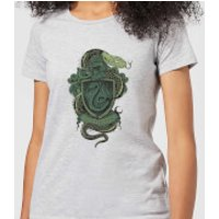 Harry Potter Slytherin Drawn Crest Women's T-Shirt - Grey - XXL - Grey
