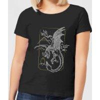 Harry Potter Hungarian Horntail Dragon Women's T-Shirt - Black - M - Black