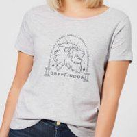 Harry Potter Gryffindor Linework Women's T-Shirt - Grey - M - Gris