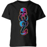 Harry Potter Dark Mark Neon Kids' T-Shirt - Black - 5-6 años - Negro