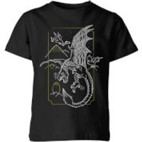 Harry Potter Hungarian Horntail Dragon Kids' T-Shirt - Black - 3-4 años - Negro
