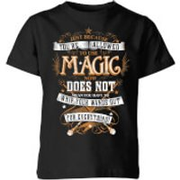 Image of Harry Potter Whip Your Wands Out Kids' T-Shirt - Black - 3-4 Years - Black
