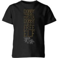 Harry Potter Dobby Is A Free Elf Kids' T-Shirt - Black - 11-12 Years - Black - Elf Gifts