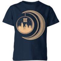 Harry Potter Globe Moon Kids' T-Shirt - Navy - 5-6 Years - Navy
