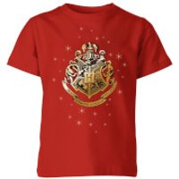 Harry Potter Star Hogwarts Gold Crest Kids' T-Shirt - Red - 3-4 Years - Red