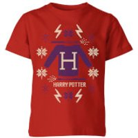 Harry Potter Christmas Sweater Kids' T-Shirt - Red - 11-12 Years - Red - Sweater Gifts