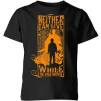 Harry Potter Neither Can Live Kids' T-Shirt - Black - 7-8 Years - Black