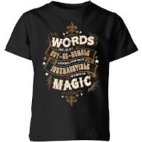 Harry Potter Words Are, In My Not So Humble Opinion Kids' T-Shirt - Black - 9-10 Years - Black