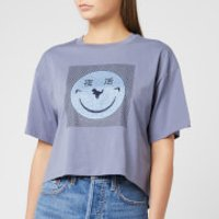 Coach 1941 Women's Cropped Yeti Out T-Shirt - Periwinkle - L