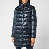 Herno Womens Dora Iconic Long Down Jacket - Navy - IT 46/UK