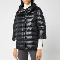 Herno Womens Aminta Iconic Hooded Down Jacket - Black - IT 4