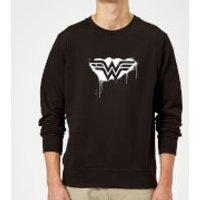 Justice League Graffiti Wonder Woman Sweatshirt - Black - 5XL - Black - Woman Gifts