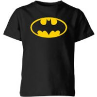 Justice League Batman Logo Kids' T-Shirt - Black - 3-4 Years - Black
