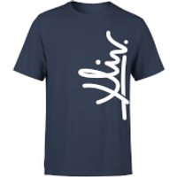How Ridiculous XLIV Script Vertical Men's T-Shirt - Navy - S - Navy