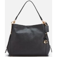 shop for Coach Women's Polished Pebble Leather Dalton 28 Shoulder Bag - Black at Shopo