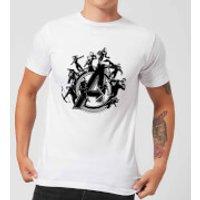Avengers Endgame Hero Circle Men's T-Shirt - White - XL - White