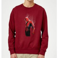 Marvel Spider-man Web Wrap Sweatshirt - Burgundy - XL - Burgundy