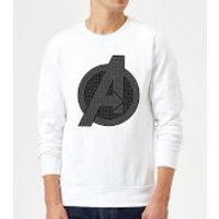 Avengers Endgame Iconic Logo Sweatshirt - White - L - White
