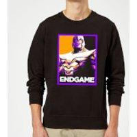 Avengers Endgame Thanos Poster Sweatshirt - Black - S - Black