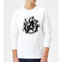 Avengers Endgame Hero Circle Sweatshirt - White - 3XL - White