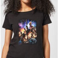Avengers Endgame Character Montage Women's T-Shirt - Black - 5XL - Black