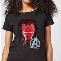 Avengers Endgame Iron Man Brushed Women's T-Shirt - Black - XS - Black