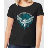 Captain Marvel Starforce Warrior Women's T-Shirt - Black - XL - Black