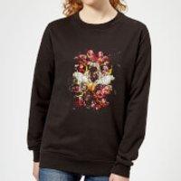 Avengers Endgame Distressed Thanos Women's Sweatshirt - Black - XXL - Black