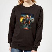 Captain Marvel Movie Starforce Poster Women's Sweatshirt - Black - XXL - Black