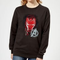 Avengers Endgame Iron Man Brushed Women's Sweatshirt - Black - L - Black