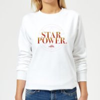 Captain Marvel Star Power Women's Sweatshirt - White - M - White