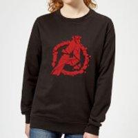 Avengers Endgame Shattered Logo Women's Sweatshirt - Black - XL - Black