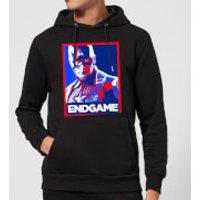 Avengers Endgame Captain America Poster Hoodie - Black - S - Black