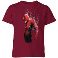Marvel Spider-man Web Wrap Kids T-Shirt - Burgundy - 9-10 Years - Burgundy