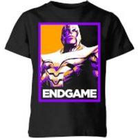 Avengers Endgame Thanos Poster Kids' T-Shirt - Black - 3-4 Years - Black