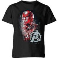 Avengers Endgame Captain America Brushed Kids' T-Shirt - Black - 7-8 Years - Black
