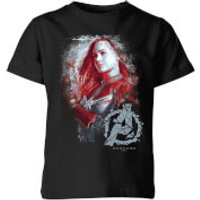 Avengers Endgame Captain Marvel Brushed Kids' T-Shirt - Black - 11-12 Years - Black