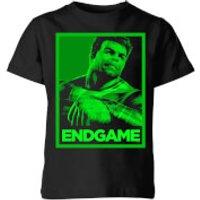 Avengers Endgame Hulk Poster Kids' T-Shirt - Black - 11-12 Years - Black - Hulk Gifts