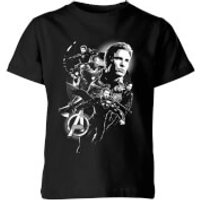 Avengers Endgame Mono Heroes Kids' T-Shirt - Black - 11-12 Years - Black