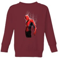 Marvel Spider-man Web Wrap Kids Sweatshirt - Burgundy - 5-6 Years - Burgundy