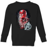 Avengers Endgame Captain America Brushed Kids' Sweatshirt - Black - 3-4 Years - Black