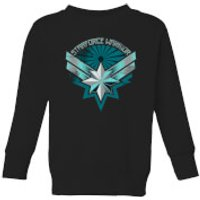 Captain Marvel Starforce Warrior Kids' Sweatshirt - Black - 3-4 Years - Black