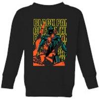 Marvel Avengers Black Panther Collage Kids' Sweatshirt - Black - 11-12 Years - Black - Marvel Gifts