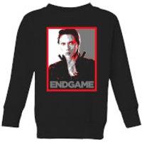 Avengers Endgame Black Widow Poster Kids' Sweatshirt - Black - 3-4 Years - Black