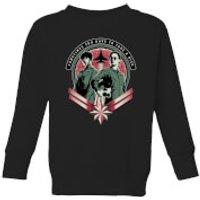 Captain Marvel Take A Risk Kids' Sweatshirt - Black - 11-12 Years - Black - Marvel Gifts